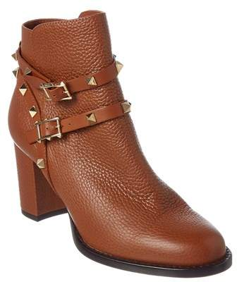 Valentino Rockstud Leather Ankle Boot.