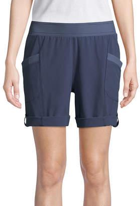 ST. JOHN'S BAY SJB ACTIVE Active Woven Pull-On Shorts