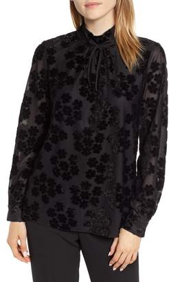 Karl Lagerfeld Paris Velvet Flower Blouse