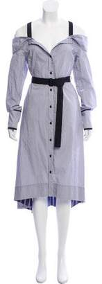 Proenza Schouler Belted Button-Up Dress w/ Tags