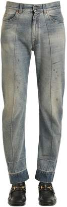 Gucci Resin Coated Stone Washed Denim Jeans