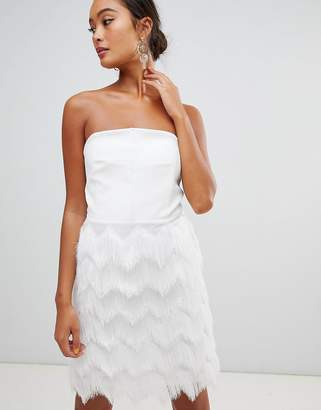 Miss Selfridge fringed skirt mini dress