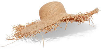 CLYDE Frayed Straw Hat - Ivory
