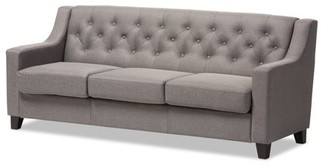 Baxton Studio Arcadia Modern and Contemporary Fabric Upholstered Button-Tufted Living Room 3-Seater Sofa, Multiple Colors