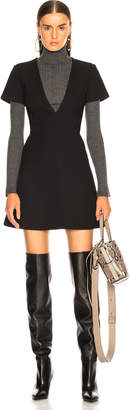 Chloé Double Face Wool Crepe Mini Dress