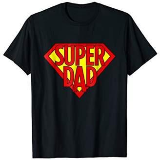 Mens Super Dad Superhero Daddy Hero Dad Funny Dad Humor Shirts