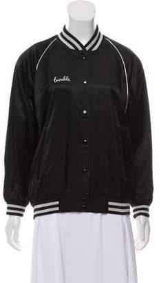 R 13 Letterman Bomber Jacket
