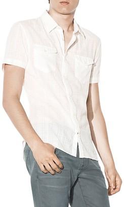 John Varvatos Star USA Shadow Plaid Slim Fit Button-Down Shirt $128 thestylecure.com