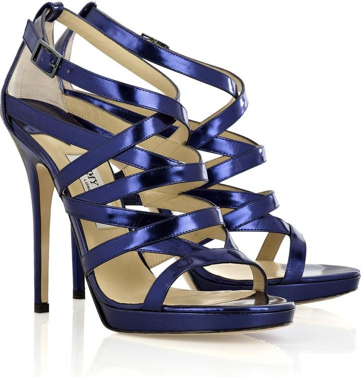 Jimmy Choo Zero metallic-leather sandals