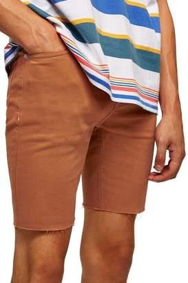 Topman Skinny Fit Stretch Twill Cutoff Shorts