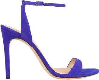 Alexandre Birman Willow Royal Blue Suede Sandals