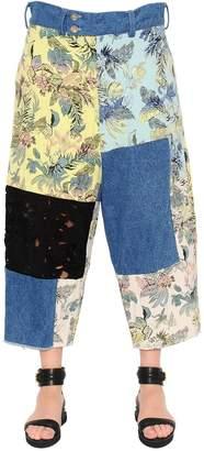 Patchwork Brocade, Denim & Lace Pants