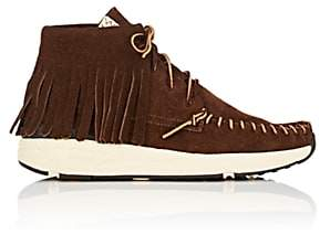 Visvim Men's Yucca Moc Shaman Suede Moccasin Sneakers-Dk. brown
