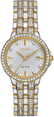 Citizen Women's Eco-Drive Crystal Accent Two-Tone Stainless Steel Bracelet Watch 28mm EW2344-57A