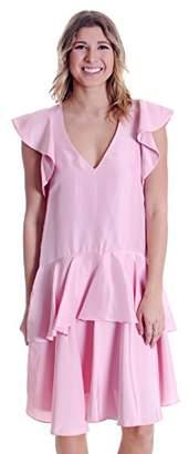 Cynthia Rowley Women's Silk Dupioni Ruffle Dress