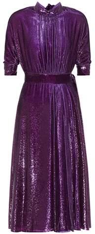 Prada Metallic velvet dress