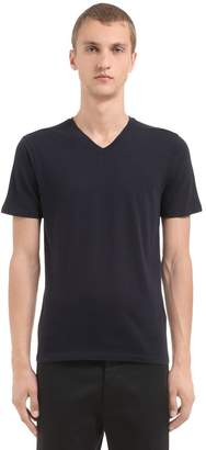 Finest Cotton & Cashmere V Neck T-Shirt