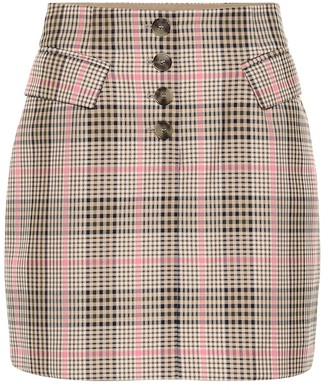 Baum und Pferdgarten Shani checked cotton-blend miniskirt