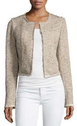 Theory Ualana Comprised Tweed Jacket, Beige $395 thestylecure.com