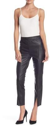 BCBGeneration Faux Leather & Knit Leggings