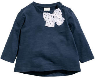 H&M Jersey Top with Bow - Blue