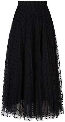 Burberry Polka Dot Midi Skirt
