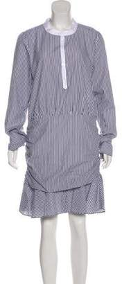 Veronica Beard Everett Striped Ruched Dress w/ Tags