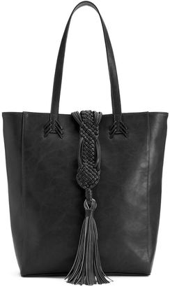 Big Buddha Braided Tassel Tote $70 thestylecure.com