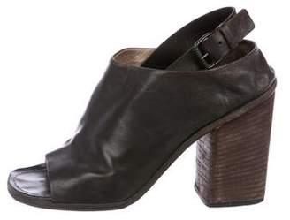Marsèll Leather Peep-Toe Booties