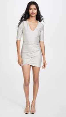 Alice + Olivia Judy Short Sleeve Ruched Dress
