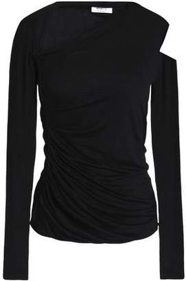 Bailey 44 Cutout Ruched Stretch-Jersey Top