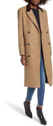 Moon River Houndstooth Double Breasted COat