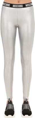 Moschino Logo Band Lame Leggings