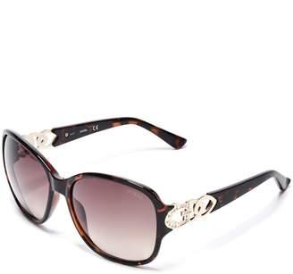 Factory GUESS Women's Oversized Chain-Trim Sunglasses