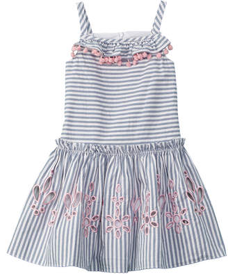 Halabaloo Girls' Pom-Pom Dress