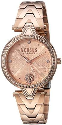 Versus By Versace Women's 'V Versus Crystal' Quartz Stainless Steel and Gold Plated Casual Watch(Model: VSPCI3717)