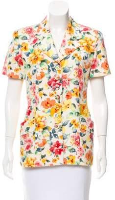 Christian Dior Floral Print Blazer