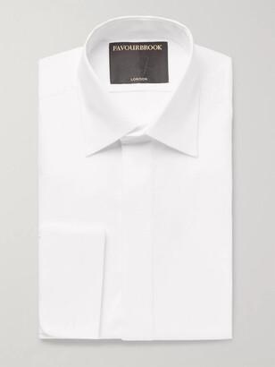 Favourbrook White Slim-Fit Bib-Front Double-Cuff Cotton Tuxedo Shirt - Men - White
