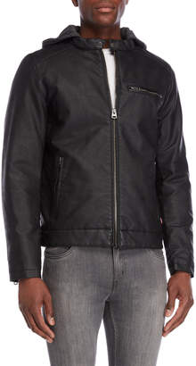 Levi's Faux Leather Hooded Racer Jacker