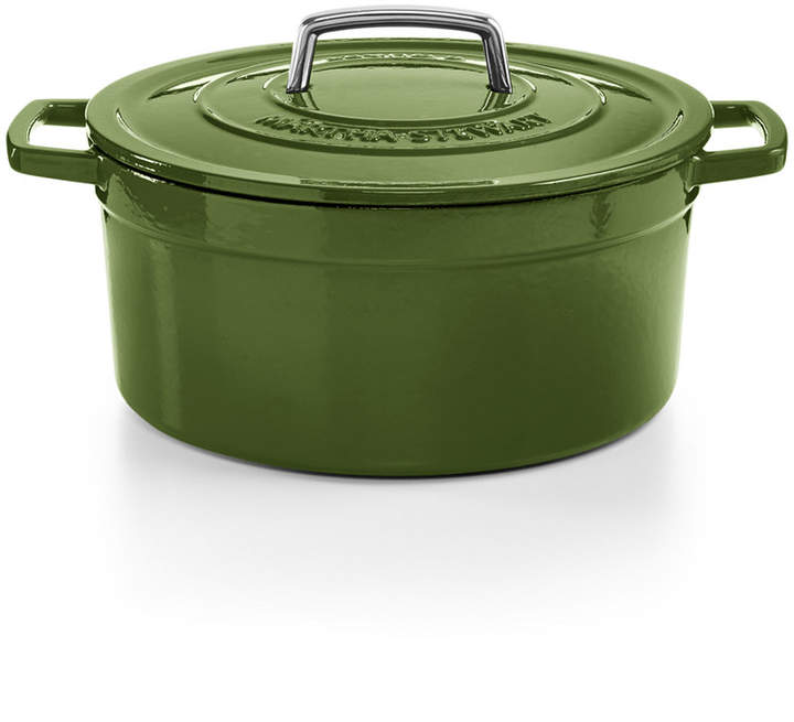 Martha Stewart Collection Collector's Enameled Cast Iron 6 Qt. Round Casserole, Created for Macy's
