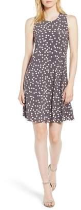 Anne Klein Dot Print Swing Dress