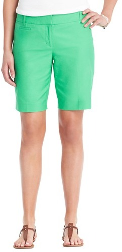 "LOFT Marisa Stretch Cotton Walking Shorts with 10"" Inseam"