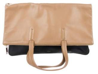 Celine Leather Fold-Over Cabas