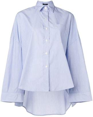 R 13 striped oversized high low shirt