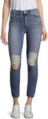 Hudson Women's Barbara High-Waist Ripped Jeans - Confection, Size 30 (8-10)