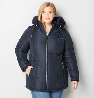 Avenue Side Belt Hooded Coat
