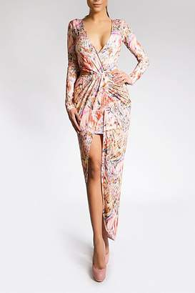 Savee Couture Double Wrapped Dress