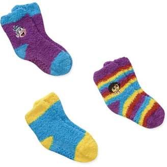 Dora the Explorer Baby Toddler Girl Socks, 3-Pack