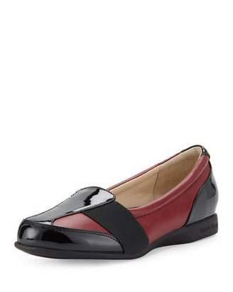 Taryn Rose Taurus Leather Slip-On Sneaker, Red/Black $230 thestylecure.com
