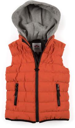 Appaman Apex Contrast-Hood Puffer Vest, Size 2-10